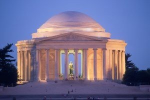 Avian Averting System client installation picture Jefferson Memorial in Washington DC