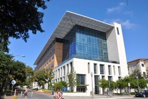 Avian Averting System client installation picture University of Texas in Austin Norman Hackerman Science Building